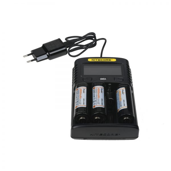 Charger for 3 x 21700/2665 Li-ion or 4 x 18650 (9.162)